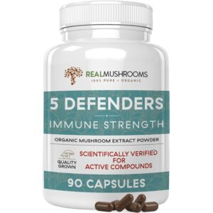 5 Defenders Organic Mushroom Blend Capsules
