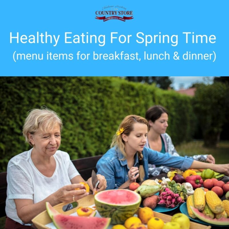 health eating in spring time